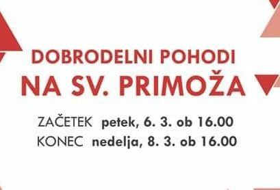 DOBRODELNI MAREC: Pohodi na Sv. Primoža nad Kamnikom