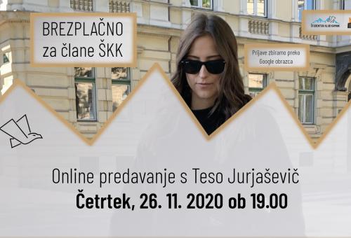 Online predavanje s Teso Jurjaševič