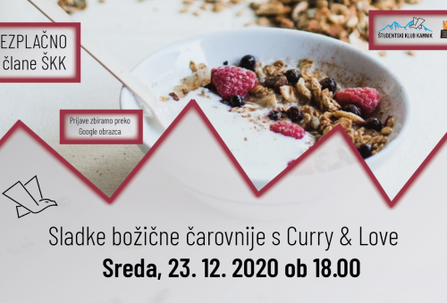 Slaščičarska delavnica s Klaro Žagar (Curry and Love)